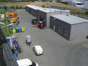 baza sprzętu TP-KOM – garaże